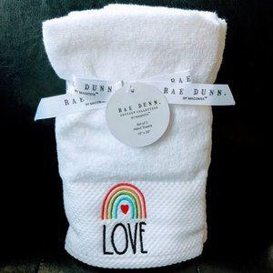 Brand New Rae Dunn Set of 2 Hand Towels: Love BNWT